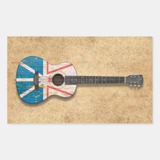 Guitarra acústica de la bandera gastada de Terrano