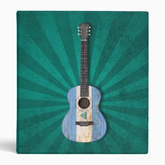 Guitarra acústica de la bandera nicaragüense gasta