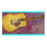 guitarra acústica de la pátina amarilla plantilla de tarjeta personal