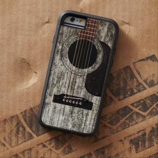Guitarra acústica de madera vieja funda para  iPhone 6 tough xtreme