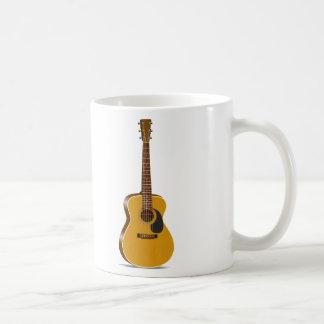 Guitarra acústica del auditorio taza
