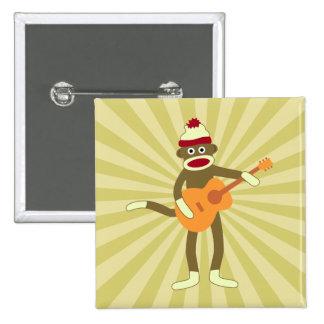 Guitarra acústica del mono del calcetín pin cuadrado