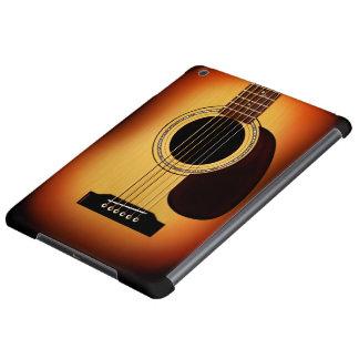 Guitarra acústica del resplandor solar
