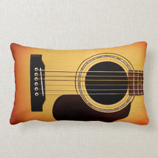 Guitarra acústica del resplandor solar cojín
