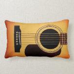 Guitarra acústica del resplandor solar cojines