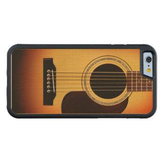 Guitarra acústica del resplandor solar funda de iPhone 6 bumper arce