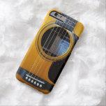 Guitarra acústica del vintage funda para iPhone 6 barely there