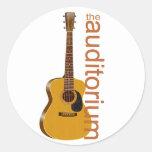 "Guitarra acústica ""el auditorio etiquetas redondas"