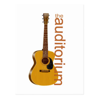 """Guitarra acústica """"el auditorio tarjetas postales"""