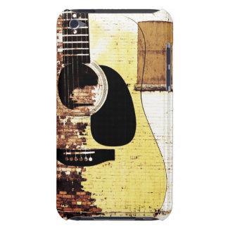 guitarra acústica en el collage del ladrillo Case-Mate iPod touch carcasas