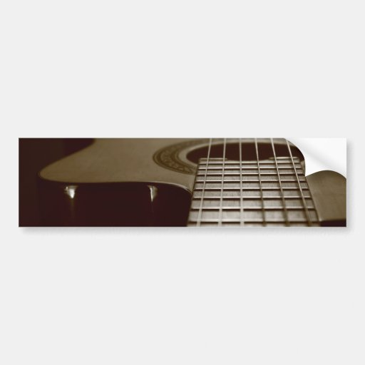 Guitarra acústica etiqueta de parachoque
