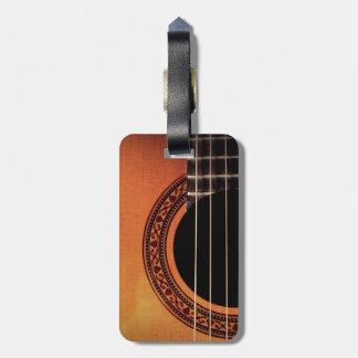 Guitarra acústica etiquetas de equipaje