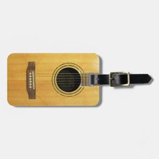 Guitarra acústica etiquetas de maletas