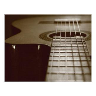 """Guitarra acústica folleto 8.5"""" x 11"""""""