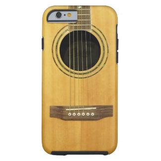 Guitarra acústica funda de iPhone 6 tough