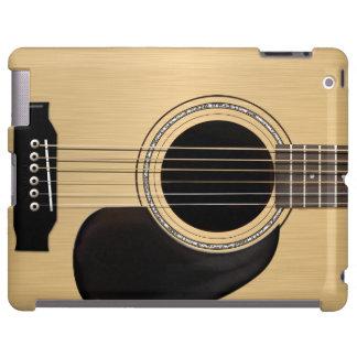 Guitarra acústica funda para iPad