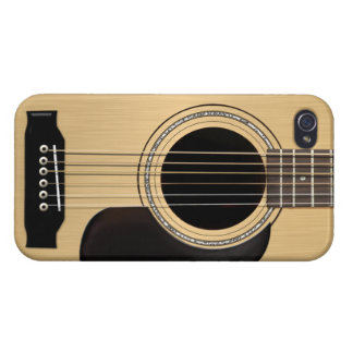 Guitarra acústica iPhone 4/4S carcasa