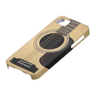 Guitarra acústica funda para iPhone 5 barely there