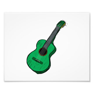 guitarra acústica green.png simple gráfico fotografías