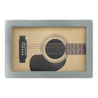 Guitarra acústica hebilla de cinturon rectangular