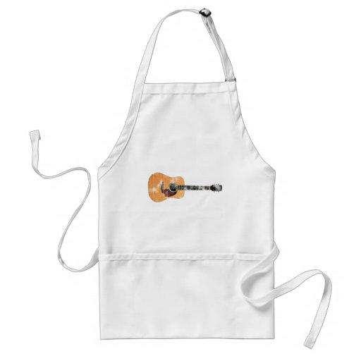 Guitarra acústica horizontal (apenado) delantal