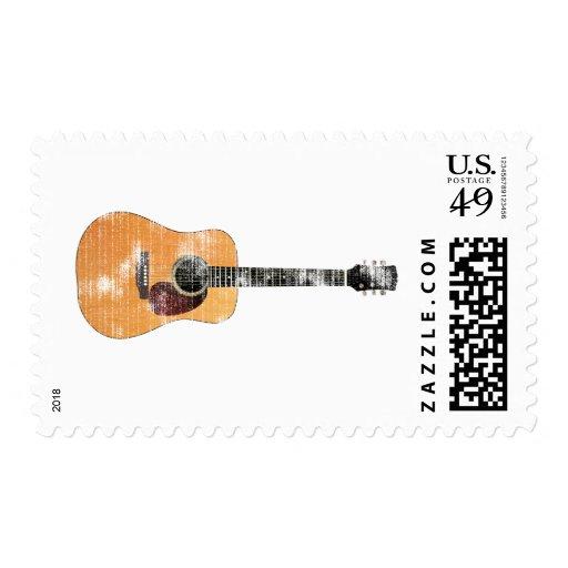 Guitarra acústica horizontal (apenado) envio