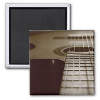 Guitarra acústica imán de nevera