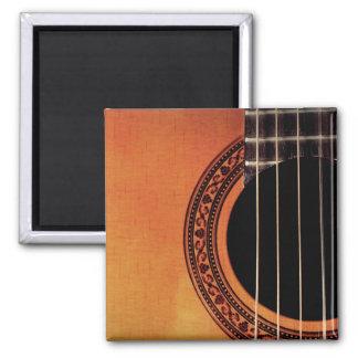 Guitarra acústica imán de frigorífico