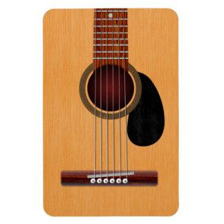 Guitarra acústica imán foto rectangular
