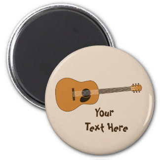Guitarra acústica imán redondo 5 cm