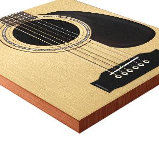 Guitarra acústica impresión en lienzo
