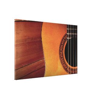 Guitarra acústica impresión de lienzo