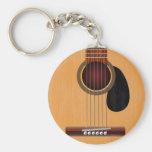 Guitarra acústica llavero personalizado