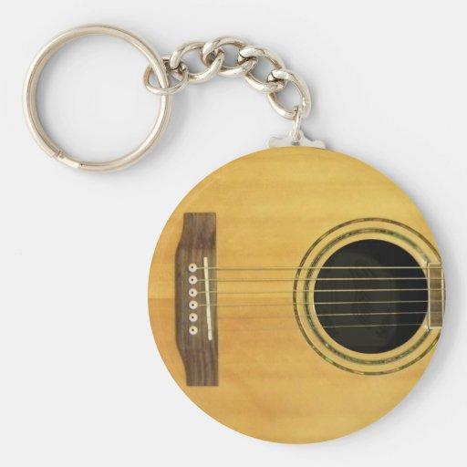 Guitarra acústica llaveros