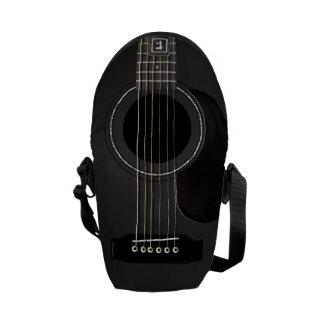 Guitarra acústica negra bolsas messenger