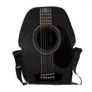 Guitarra acústica negra bolsa de mensajería