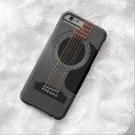 Guitarra acústica negra de la ceniza funda de iPhone 6 barely there