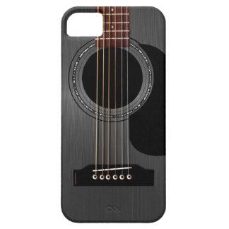 Guitarra acústica negra de la ceniza iPhone 5 carcasa