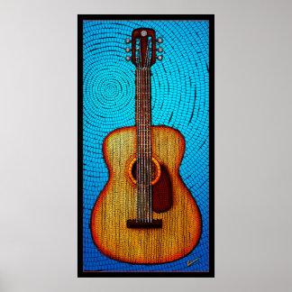 Guitarra acústica impresiones