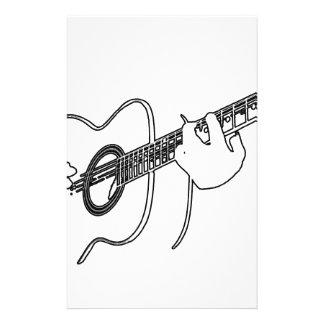 guitarra acústica personalized stationery
