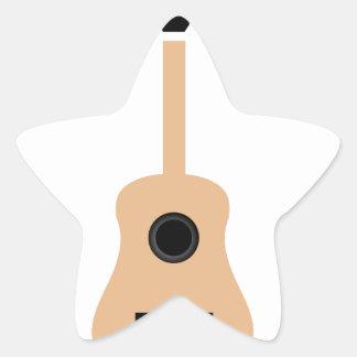 Guitarra acústica pegatina en forma de estrella