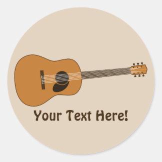 Guitarra acústica pegatina redonda