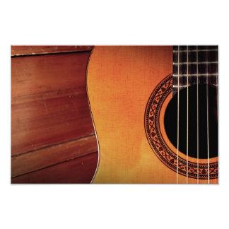 Guitarra acústica impresion fotografica