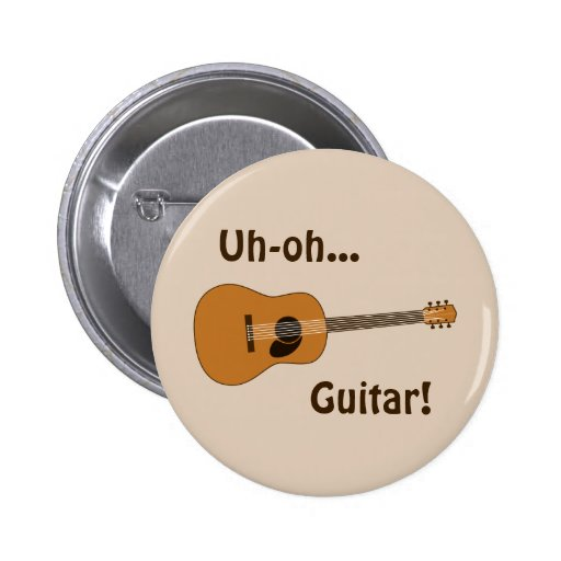 Guitarra acústica pin redondo 5 cm