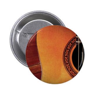 Guitarra acústica pin redondo de 2 pulgadas