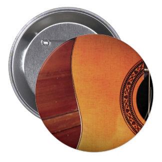 Guitarra acústica pin redondo de 3 pulgadas