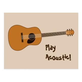Guitarra acústica postal