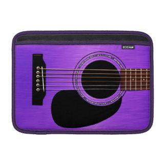 Guitarra acústica púrpura fundas MacBook
