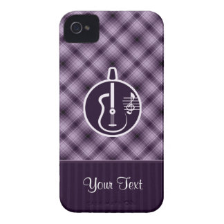 Guitarra acústica púrpura iPhone 4 cárcasa