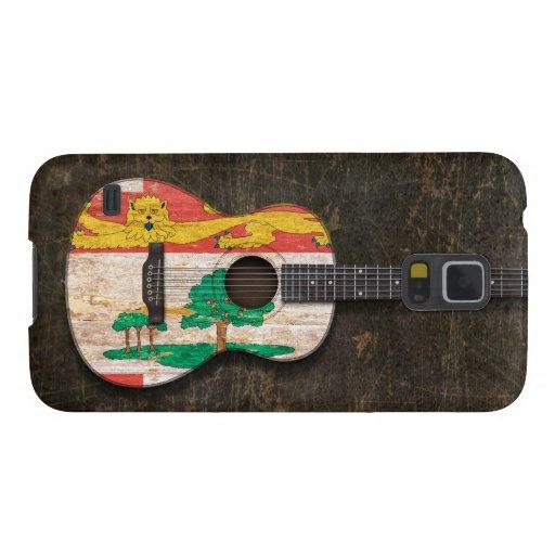 Guitarra acústica rasguñada de Isla del Principe E Carcasa De Galaxy S5
